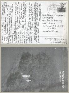 Ece Ayhan ve Komet (Kartpostallar ve Fotoğraflar)